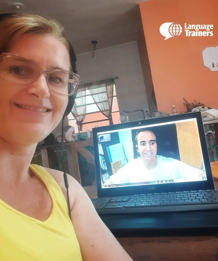 Our Dutch teacher, Ryan, teaching a virtual class.